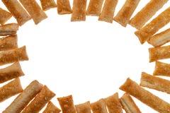 Μπισκότα ζύμης ριπών απομονωμένο στο λευκό υπόβαθρο στοκ φωτογραφία με δικαίωμα ελεύθερης χρήσης
