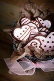 Μπισκότα ημέρας Valentine´s Στοκ Εικόνες