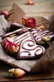 Μπισκότα ημέρας Valentine´s Στοκ εικόνα με δικαίωμα ελεύθερης χρήσης