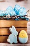 Μπισκότα και αυγά Πάσχας Στοκ φωτογραφία με δικαίωμα ελεύθερης χρήσης