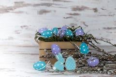Μπισκότα και αυγά Πάσχας Στοκ εικόνες με δικαίωμα ελεύθερης χρήσης