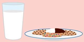 Μπισκότα και γάλα Στοκ Φωτογραφία