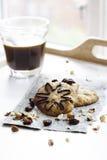 Μπισκότα και καφές Στοκ Εικόνα