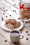 Μπισκότα και καφές στοκ εικόνες