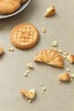 Μπισκότα και crumbs Στοκ εικόνες με δικαίωμα ελεύθερης χρήσης