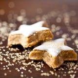 μπισκότα κανέλας Χριστο&upsilon Στοκ Φωτογραφία