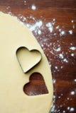 Μπισκότα καρδιών ψησίματος Στοκ Εικόνες