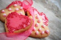 Μπισκότα καρδιών Στοκ εικόνες με δικαίωμα ελεύθερης χρήσης