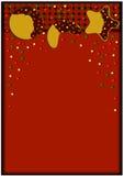 Μπισκότα καρτών Χριστουγέννων Στοκ φωτογραφία με δικαίωμα ελεύθερης χρήσης
