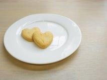 Μπισκότα καρδιών για το βαλεντίνο Στοκ φωτογραφίες με δικαίωμα ελεύθερης χρήσης