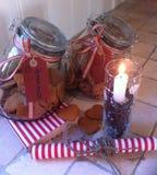 Μπισκότα καρδιών Χριστουγέννων Στοκ φωτογραφίες με δικαίωμα ελεύθερης χρήσης