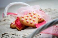Μπισκότα καρδιών Στοκ φωτογραφίες με δικαίωμα ελεύθερης χρήσης
