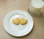 Μπισκότα καρδιών Στοκ Εικόνα