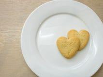 Μπισκότα καρδιών Στοκ φωτογραφία με δικαίωμα ελεύθερης χρήσης