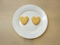 Μπισκότα καρδιών Στοκ Εικόνες