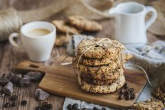 μπισκότα καφέ σοκολάτας τσιπ στοκ εικόνα με δικαίωμα ελεύθερης χρήσης