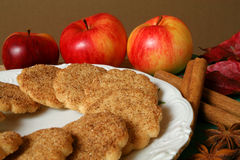 μπισκότα μήλων Στοκ φωτογραφίες με δικαίωμα ελεύθερης χρήσης