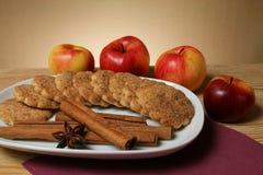 μπισκότα μήλων Στοκ φωτογραφία με δικαίωμα ελεύθερης χρήσης