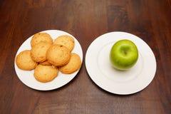 μπισκότα μήλων healty Στοκ Εικόνες