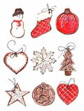 Μπισκότα μελοψωμάτων Χριστουγέννων διανυσματική απεικόνιση