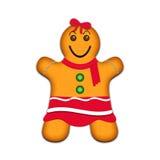Μπισκότα μελοψωμάτων - κορίτσι ελεύθερη απεικόνιση δικαιώματος