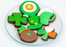 Μπισκότα μελοψωμάτων με την εικόνα για την ημέρα του ST Πάτρικ ` s Στοκ φωτογραφίες με δικαίωμα ελεύθερης χρήσης