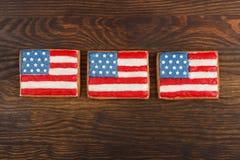 Μπισκότα με τα αμερικανικά πατριωτικά χρώματα Στοκ εικόνα με δικαίωμα ελεύθερης χρήσης