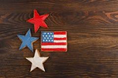 Μπισκότα με τα αμερικανικά πατριωτικά χρώματα Στοκ Εικόνα