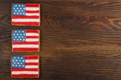 Μπισκότα με τα αμερικανικά πατριωτικά χρώματα Στοκ Φωτογραφία