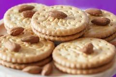 Μπισκότα με τα αμύγδαλα και τη σοκολάτα Στοκ Εικόνες