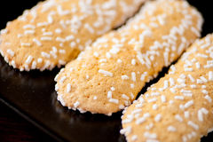Μπισκότα με τα σιτάρια ζάχαρης Στοκ Εικόνα