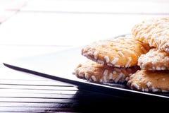 Μπισκότα με τα σιτάρια ζάχαρης Στοκ εικόνες με δικαίωμα ελεύθερης χρήσης