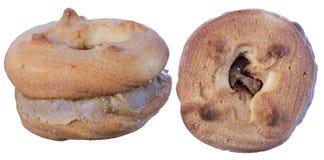 Μπισκότα με την κρέμα Στοκ Εικόνες