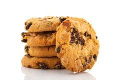 Μπισκότα με τη σοκολάτα και τις σταφίδες Στοκ φωτογραφία με δικαίωμα ελεύθερης χρήσης
