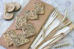 Μπισκότα με τους σπόρους Στοκ εικόνες με δικαίωμα ελεύθερης χρήσης