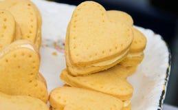 Μπισκότα μορφής καρδιών Στοκ Εικόνες