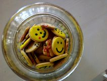 Μπισκότα μορφής Smiley Στοκ φωτογραφία με δικαίωμα ελεύθερης χρήσης