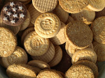 μπισκότα μπισκότων μικτά Στοκ Φωτογραφίες