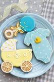 Μπισκότα ντους μωρών στοκ εικόνα με δικαίωμα ελεύθερης χρήσης