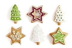 Μπισκότα πιπεροριζών Χριστουγέννων. ανασκόπηση Στοκ φωτογραφία με δικαίωμα ελεύθερης χρήσης