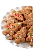 Μπισκότα πιπεροριζών Χριστουγέννων Στοκ φωτογραφία με δικαίωμα ελεύθερης χρήσης