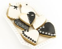 Μπισκότα που διακοσμούνται Στοκ Φωτογραφίες