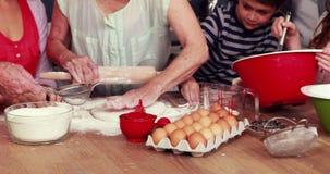 μπισκότα που μαγειρεύο&upsilon απόθεμα βίντεο