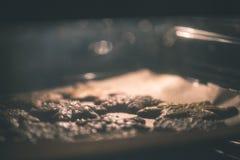Μπισκότα που ψήνουν στο φούρνο Κάνοντας τη σειρά μπισκότων μελοψωμάτων - vint Στοκ Φωτογραφία