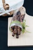 Μπισκότα ραβδιών σοκολάτας Στοκ Εικόνα