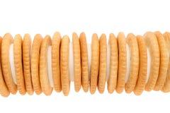 Μπισκότα σάντουιτς με την κρέμα Στοκ Εικόνες