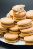 Μπισκότα σάντουιτς Στοκ Εικόνες