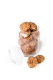 Μπισκότα σε ένα βάζο γυαλιού Στοκ Εικόνες