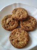 Μπισκότα σε ένα πιάτο που απομονώνεται Στοκ Εικόνα