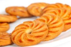Μπισκότα σε ένα πιάτο Στοκ Εικόνες